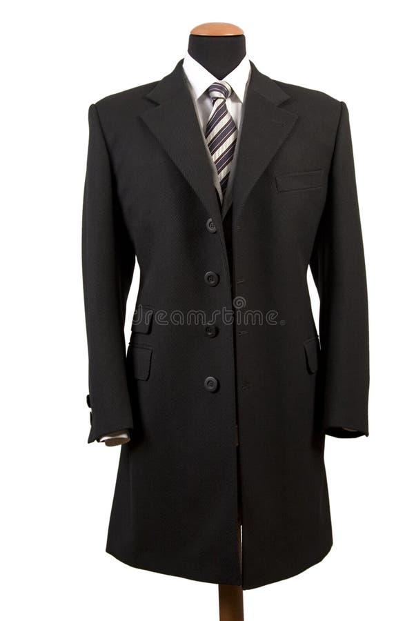 czarny elegancki kostium obrazy stock