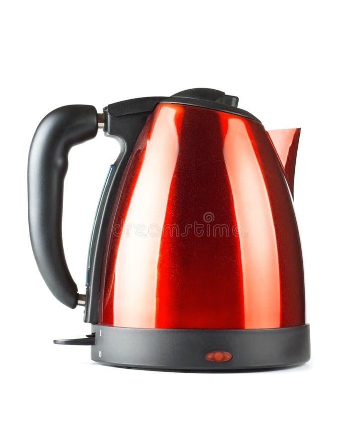czarny elektryczna czajnika czerwieni herbata zdjęcie stock