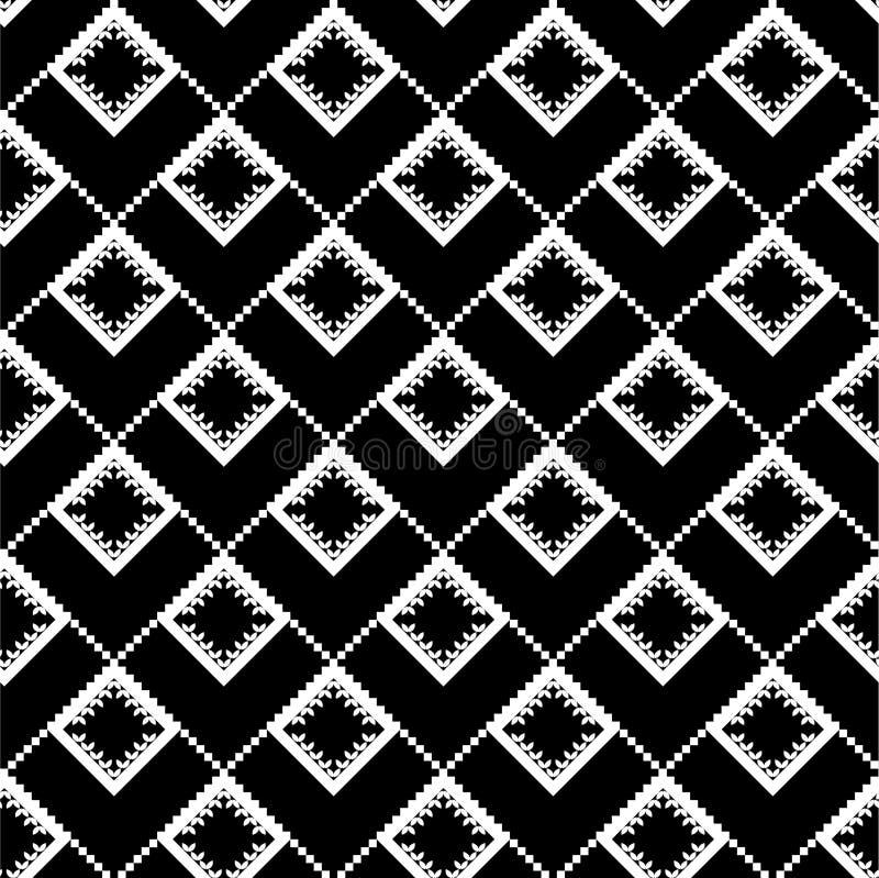 czarny etniczna tekstura ilustracji