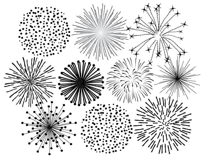 czarny fajerwerki ilustracja wektor