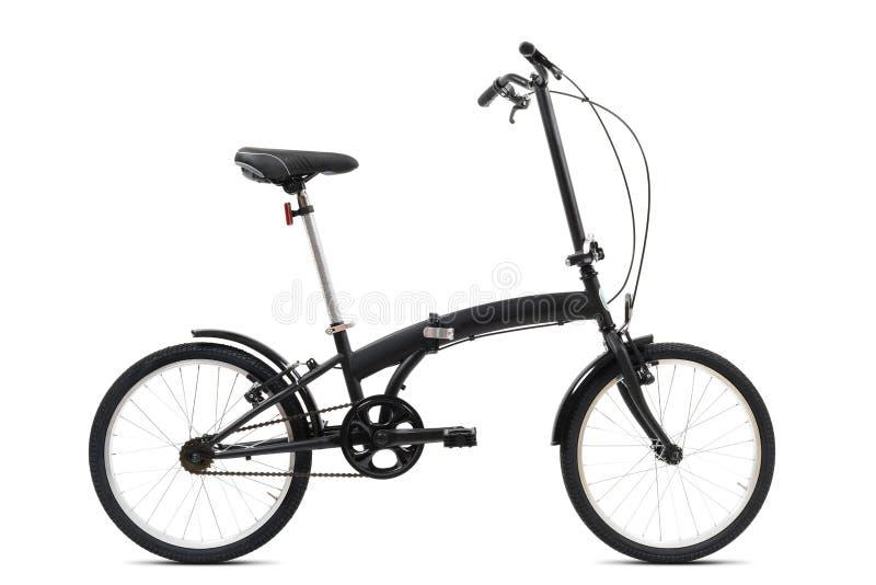 Czarny falcowanie bicykl fotografia stock