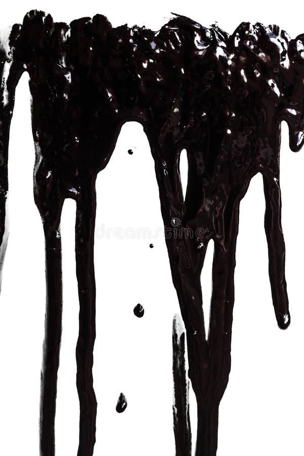 Czarny farba wyciek zdjęcia stock
