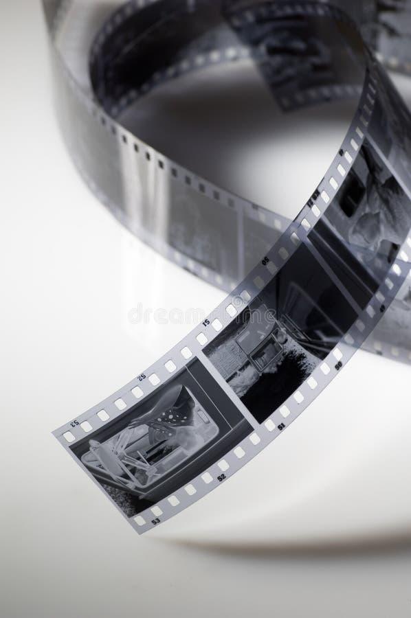 czarny film white zdjęcia stock