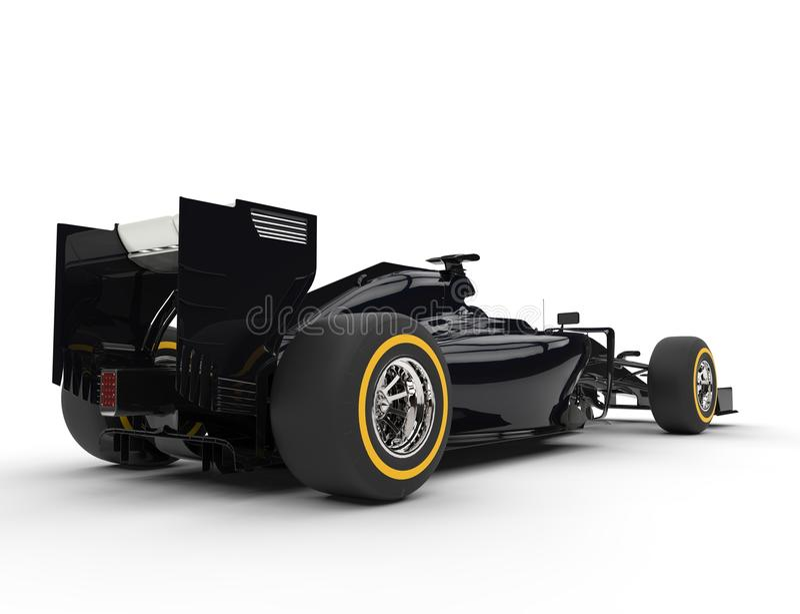 Czarny formuła jeden samochód - ogonu widok ilustracja wektor