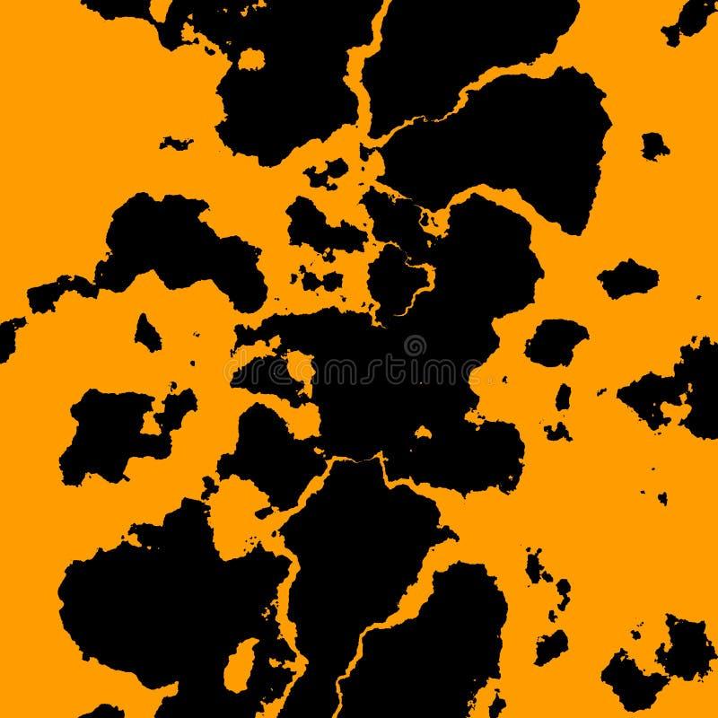 Czarny fractal brudu koloru żółtego tło Nowy uwolnienie przekonstruowywający dolarowy banknot Kreatywnie projekt ilustracja sztuk ilustracji