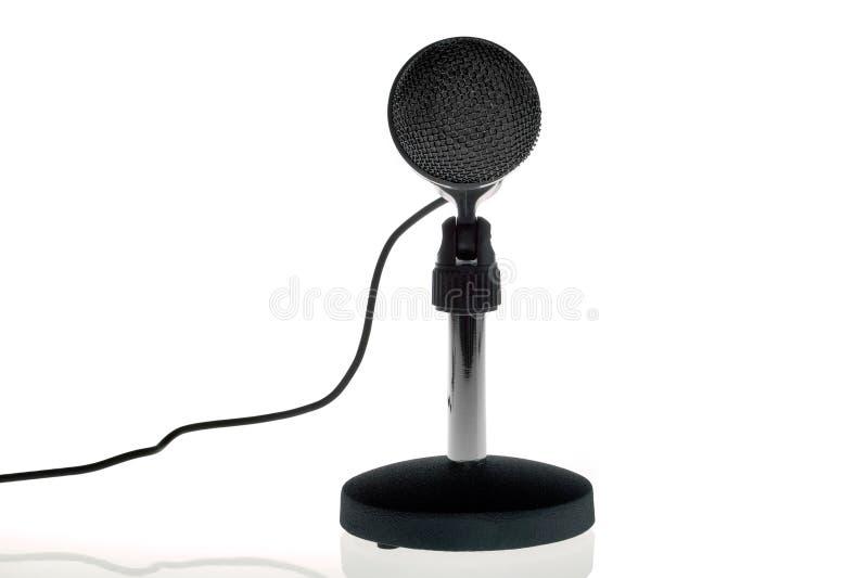 czarny frontowy mikrofon zdjęcia stock