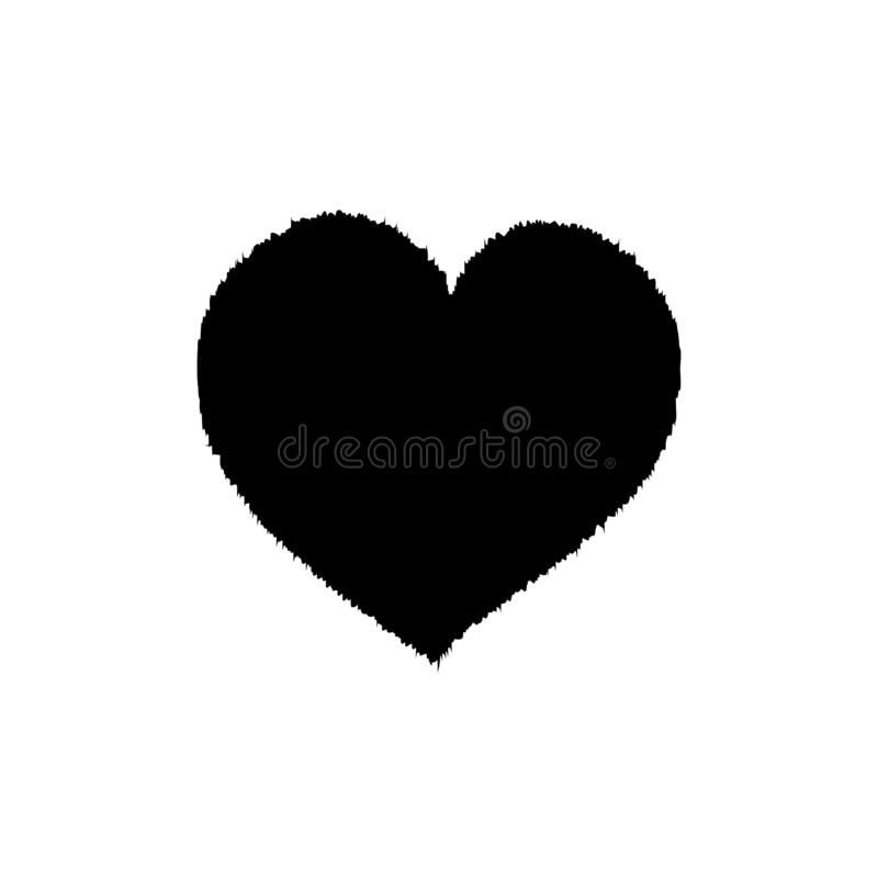 Czarny Futerkowy serce royalty ilustracja