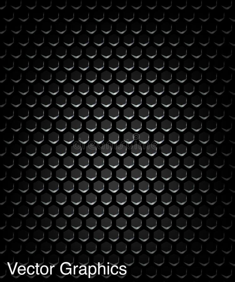 Czarny głośnikowy grill, metalu tło ilustracja wektor