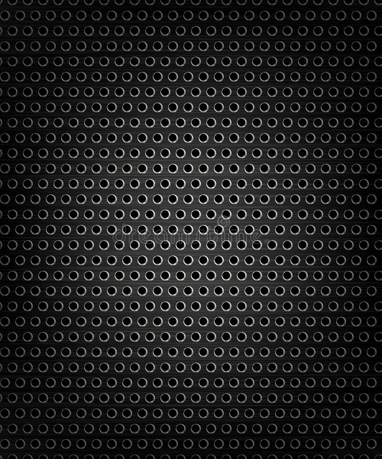 Czarny głośnikowy grill, metalu tło royalty ilustracja