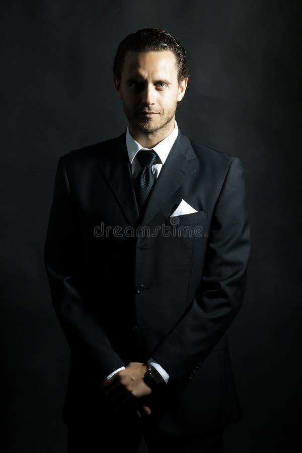czarny garnitur fotografia stock