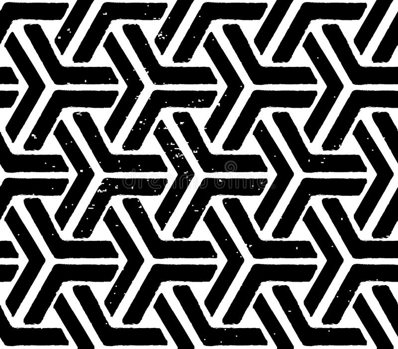 Czarny geometryczny bezszwowy wzór royalty ilustracja