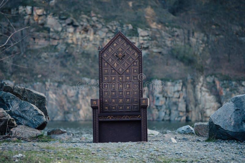Czarny gothic tron obraz stock