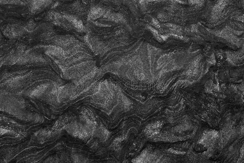 Czarny granitu kamienia abstrakta tło obraz royalty free