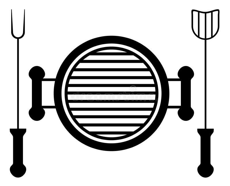 czarny grill ilustracji