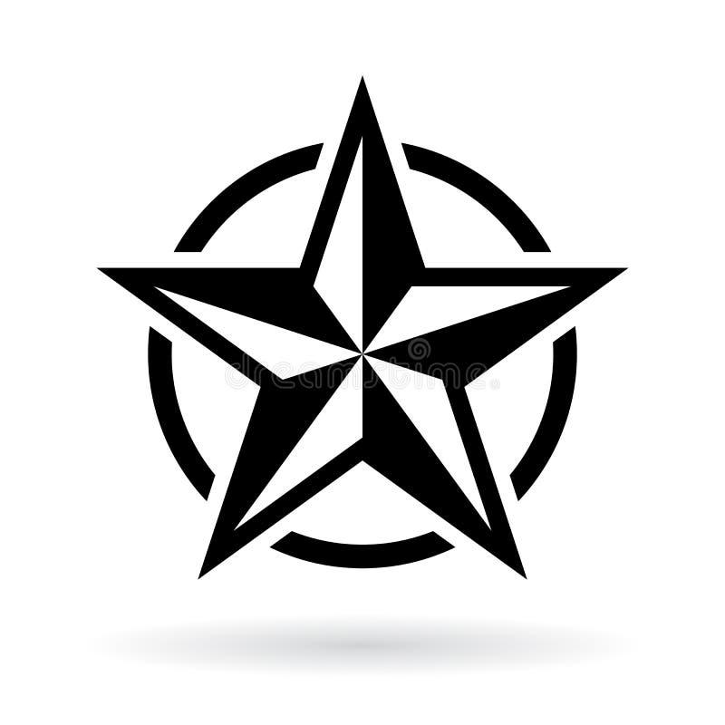 Czarny gwiazdowy wektorowy kształt ilustracja wektor