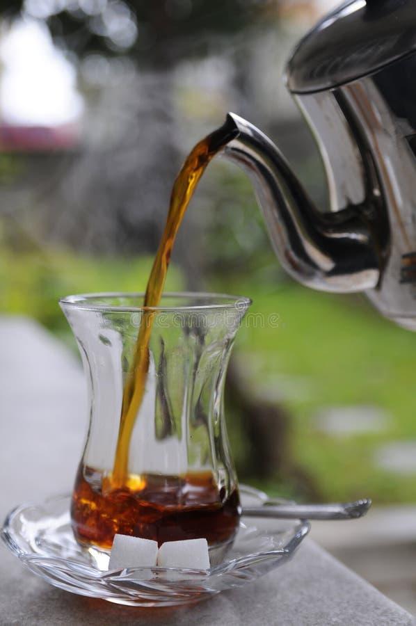 czarny herbaty turkish zdjęcie royalty free