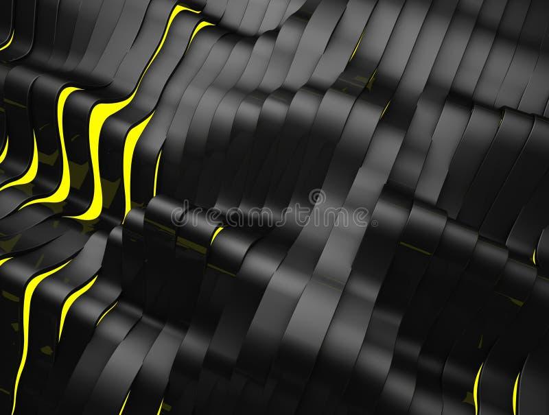 Czarny i Żółty Abstrakcjonistyczny tło obrazy stock