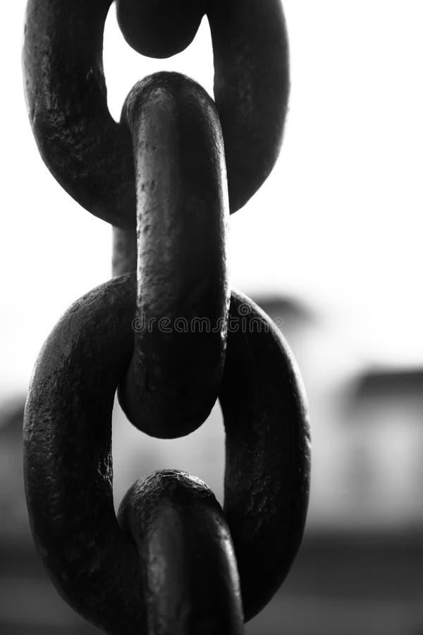 Czarny i biały łańcuszkowy połączenie zdjęcie royalty free