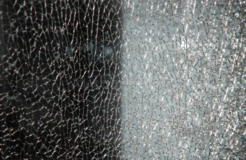 Czarny i biały łamająca szkło rozbijająca krekingowa tekstura fotografia stock