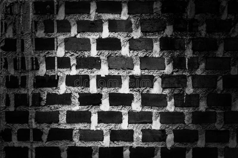 Czarny i biały ściana z cegieł rocznika spojrzenia tło textured i grungy, zdjęcie royalty free