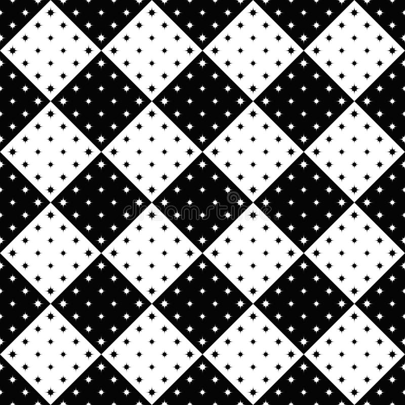 Czarny i biały abstrakcjonistyczny geometrical gwiazdowego wzoru tła projekt ilustracji