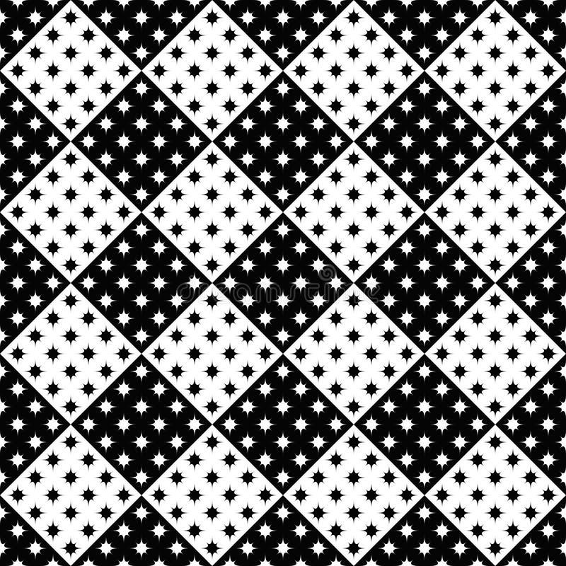Czarny i biały abstrakcjonistyczny geometrical gwiazdowego wzoru tła projekt ilustracja wektor