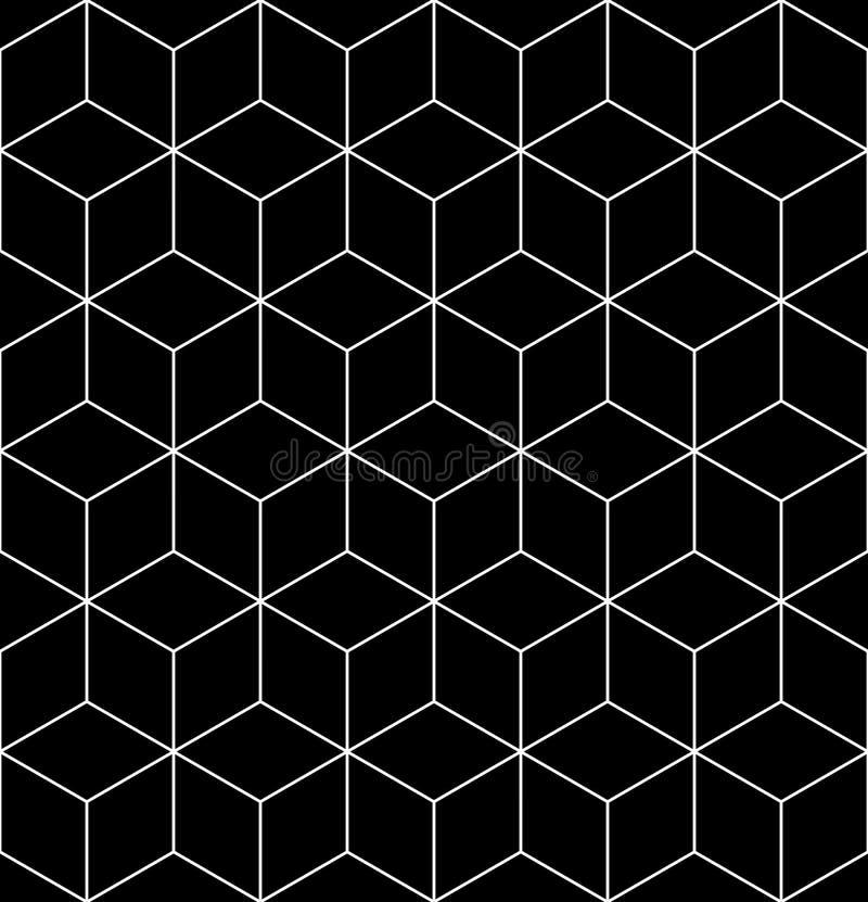 Czarny i biały abstrakt textured geometryczny bezszwowy wzór Ve ilustracja wektor
