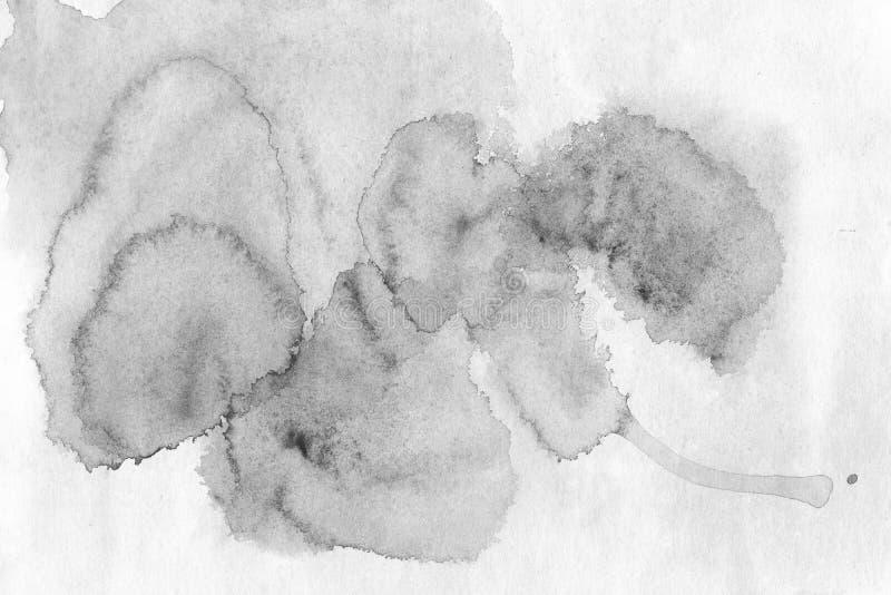 Czarny i biały akwareli tło - akwarela maluje na r ilustracji