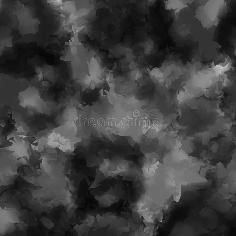 Czarny i biały akwareli tekstury tło ilustracji