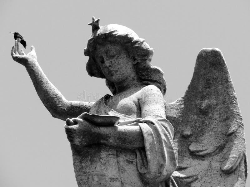 Czarny i biały anioł zdjęcia royalty free