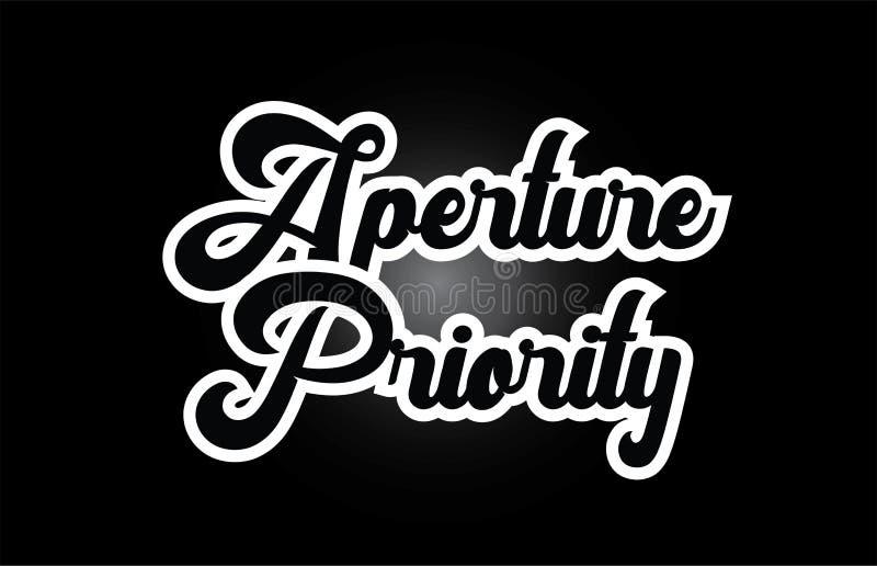 czarny i biały apertura priorytetu ręki pisać słowa tekst dla typografia logo ikony projekta royalty ilustracja