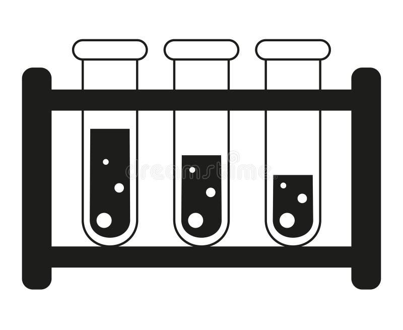 Czarny i biały badanie krwi tubki ustalona sylwetka royalty ilustracja