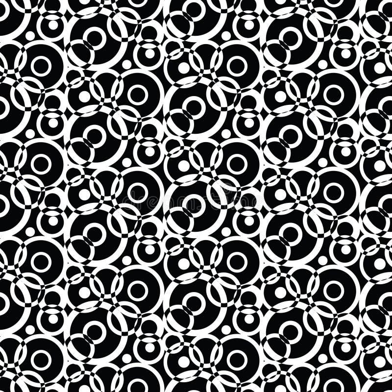 Czarny i biały bezszwowy geometrical wzór ilustracji