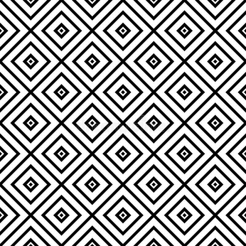 Czarny i biały Bezszwowy Wielostrzałowy wektoru wzór Stubarwny, pomysł royalty ilustracja