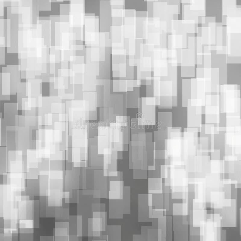 Czarny i biały bokeh zimy wakacji tło z kwadrata wzorem ilustracji