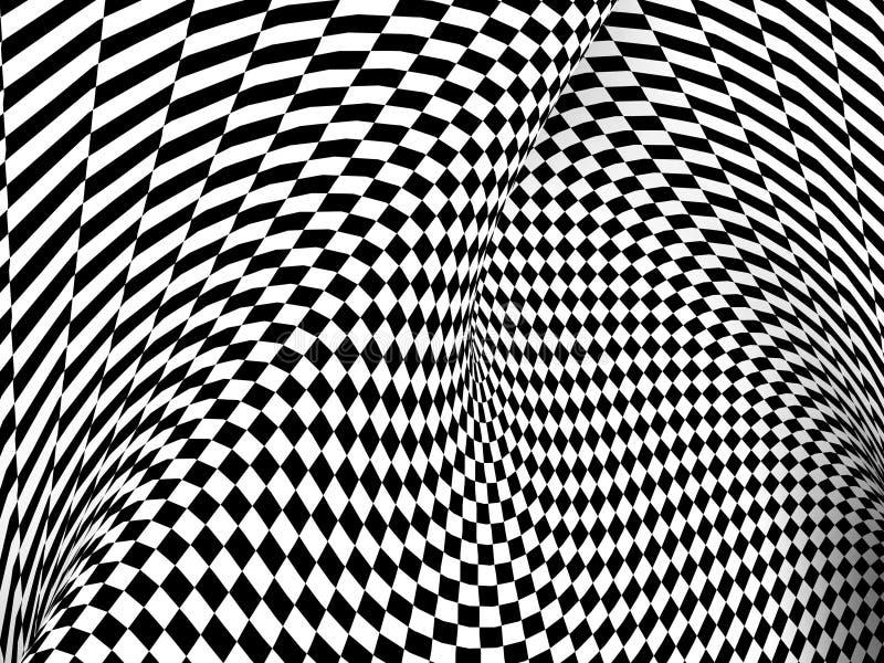 Czarny I Biały Checker tekstury tło royalty ilustracja