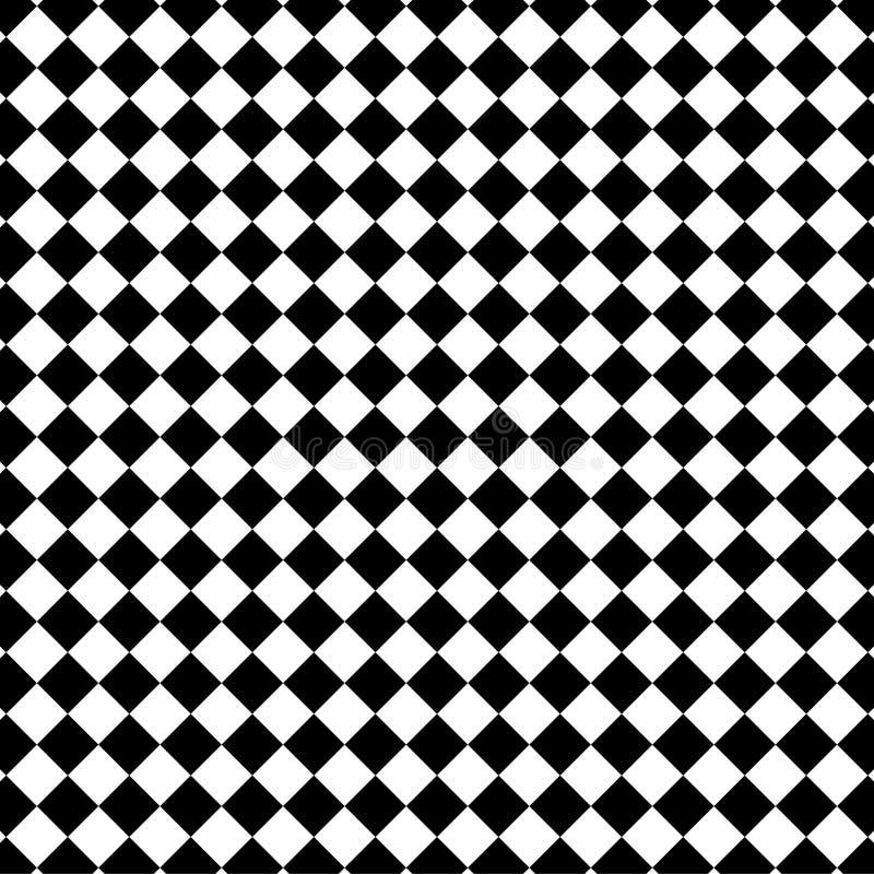 Czarny i biały czeka wzór zdjęcie stock