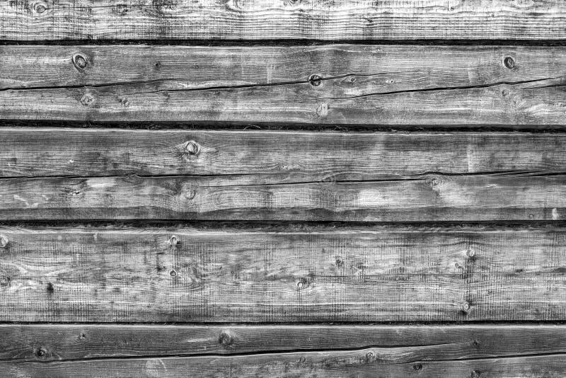 Czarny i biały drewniany ścienny tło zdjęcie stock