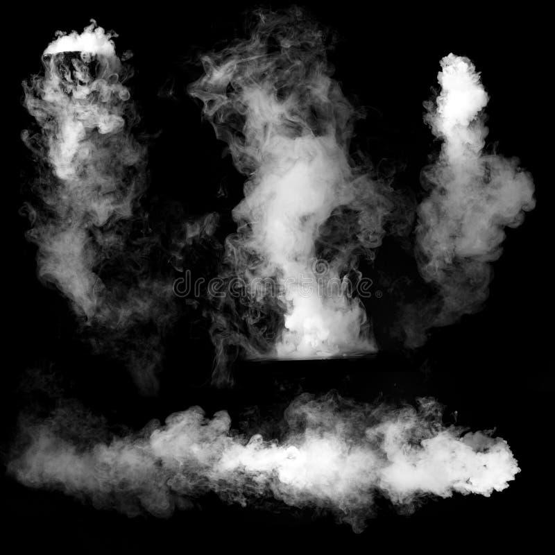 Czarny i biały dym zdjęcie stock