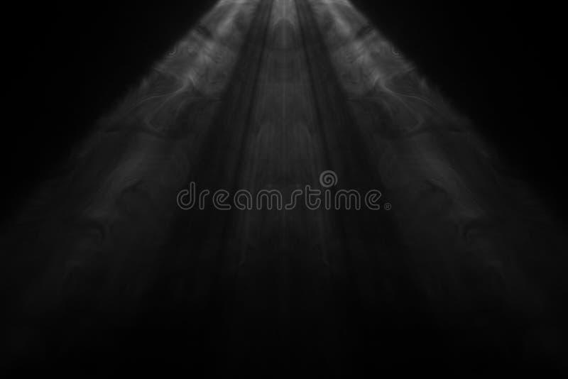 Czarny i biały dymny światło reflektorów obrazy stock