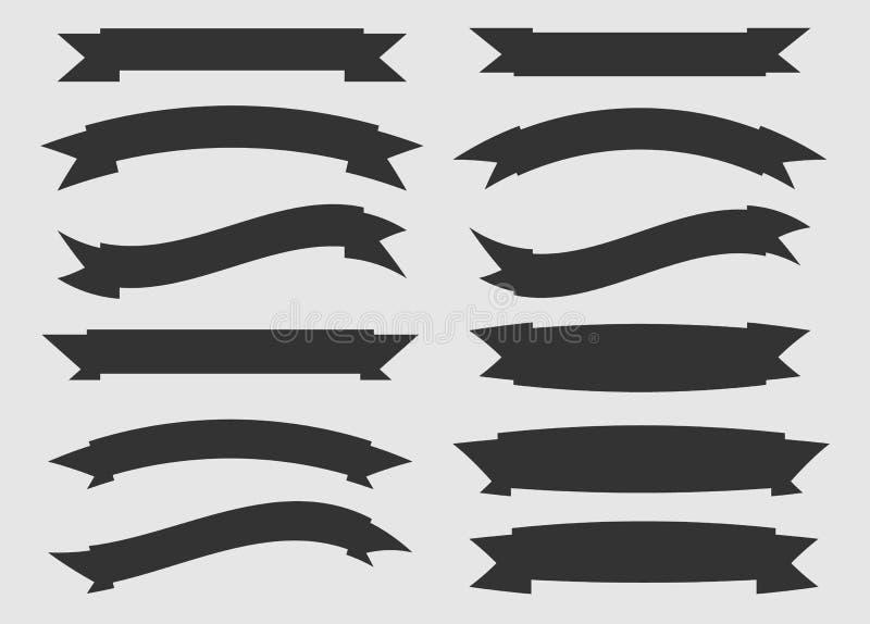 Czarny i biały faborki ilustracja wektor