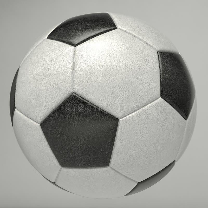 Czarny i biały futbolu FIFA piłka fotografia stock