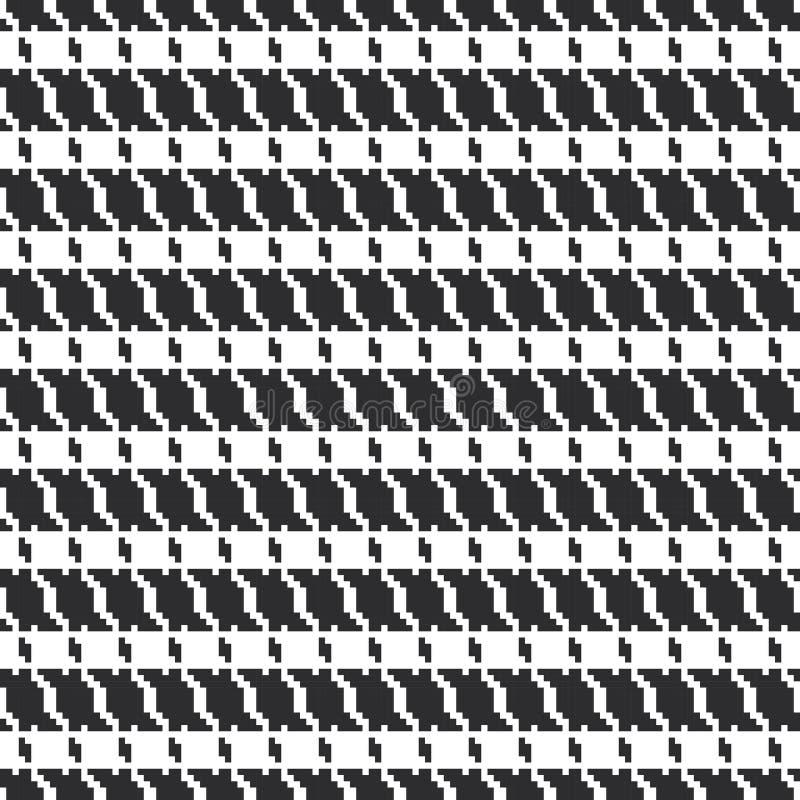 Czarny i biały geometryczny abstrakcjonistyczny tło, sukienny bezszwowy wzór, gęsia stopa poule De poule wektor ilustracja wektor