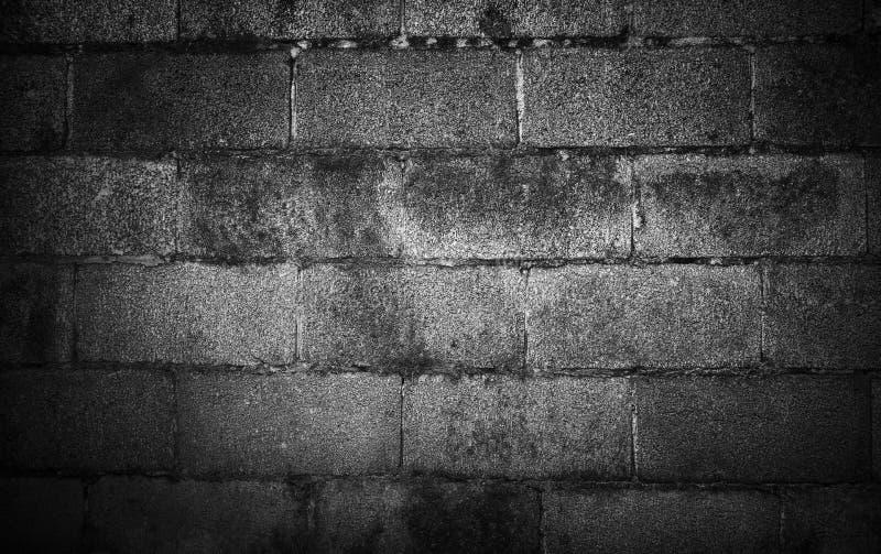 Czarny I Biały grunge ściana z cegieł tło z winietą obrazy royalty free