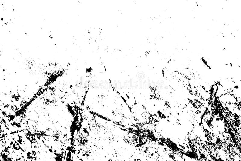 Czarny i biały grunge miastowa tekstura z kopii przestrzenią Abstrakcjonistyczny szorstki i brudzimy ściennego tło ilustracji