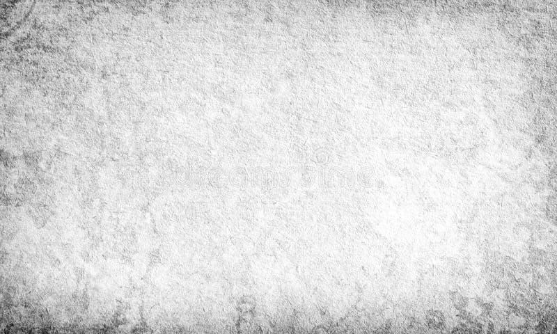 Czarny i biały grunge tło, stara papierowa tekstura, projekt, bl ilustracja wektor