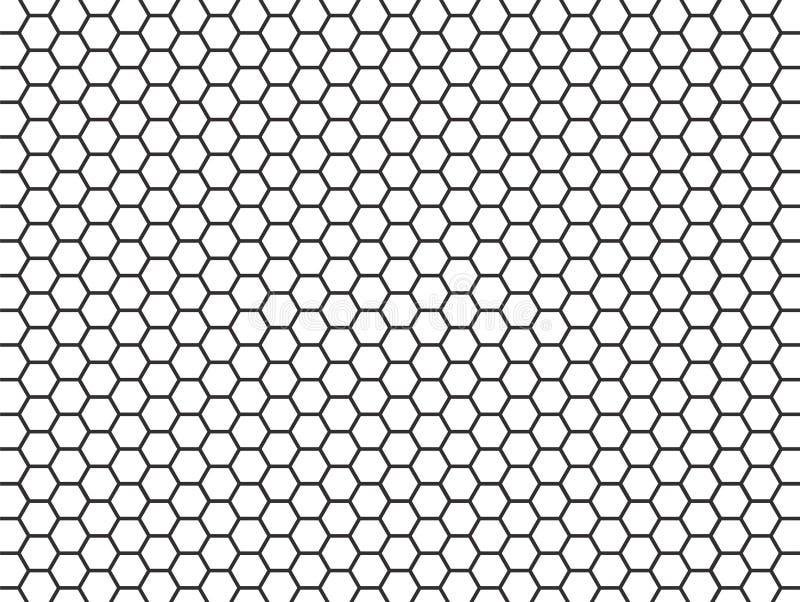 Czarny i biały heksagonalny wzór ilustracji