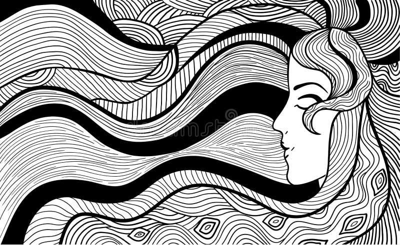 Czarny i biały ilustracja ilustracja wektor