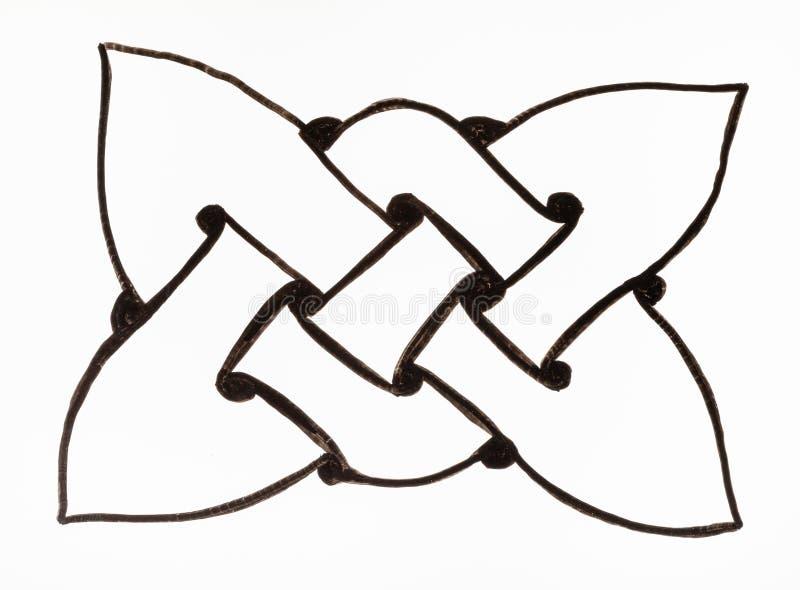 Czarny i biały kępka celta ornament ilustracja wektor