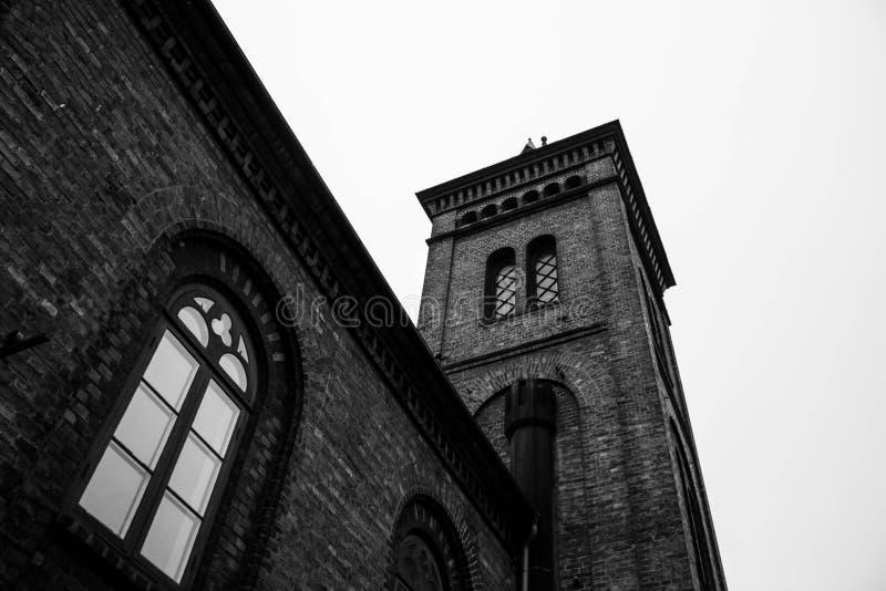 Czarny i biały katedra obrazy royalty free